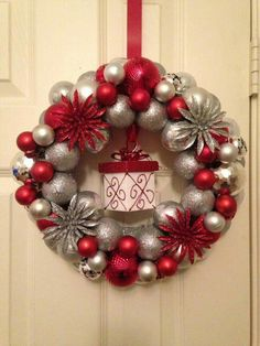 8 dollar tree ornament wreath christmas pinterest wreaths more diy christmas solutioingenieria Images