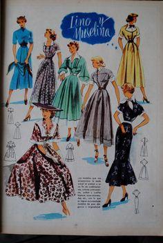 Imagens Vestidos Moda 1949