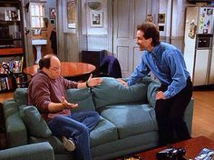 """Jerry:  """"And she said yes?  George:  """"Well it took a couple hours of convincing, but I was persistent!"""""""