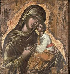 Eleousa Mother of God, Greek, ca 1500
