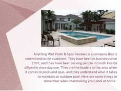 Anything Wet Pools & Spas Reviews- Leading the Industry in South Florida
