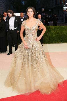 Nina's Dress on the Met Gala Red Carpet