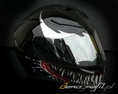 Venom AGV helmet airbush painting Kask AGV Venom malowany aerografem  www.aerografit.pl
