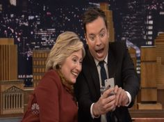 Hillary Clinton Takes A Snapchat Selfie With Jimmy Fallon & The Result Is Awesome