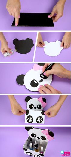 Kids Crafts, Diy Crafts For Teens, Diy Crafts For Gifts, Diy Home Crafts, Creative Crafts, Easy Crafts, Paper Crafts, Panda Themed Party, Panda Birthday Party