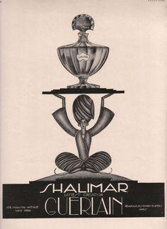 Publicité ancienne pour Shalimar de Guerlain