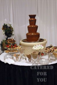 Chocolate Fountain in my house and at my wedding (: