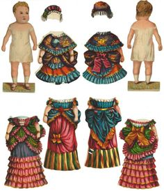 8ea9cdb06f2 Sugg  Antique 1870s Dolly Varden paper doll. Baby Varden. Dolly Varden