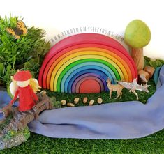 How to Play with a Grimms Rainbow: Over 50 Play Ideas | Finding Myself Young