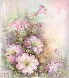 Sonie Ames Artist Decoupage Vintage, Decoupage Paper, Vintage Paper, Floral Vintage, Vintage Flowers, Vintage Prints, Retro Flowers, Flower Images, Flower Art