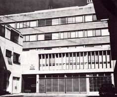 Edificio de oficinas, cerrada Río de Janeiro 17, Roma Norte, Cuauhtémoc,, México DF 1958  Arq. Pedro Arce -  Office buildng, cerrada Rio de Janeiro 17, Roma Norte, Mexico City 1958