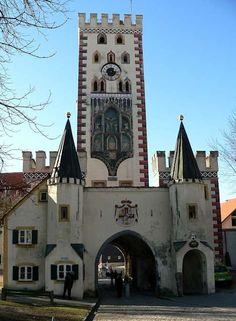 Landsberg am Lech - torre tardo gotica