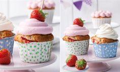 Erdbeer-Cupcakes mit zwei Frostings » Sanella