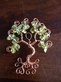 Floating Tree of Life Pendant - Yellow