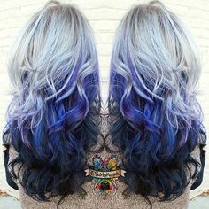 Silver ice queen I used @kenraprofessional color and @jackwinncolor for the black underneath and @arcticfoxhaircolor #arcticfoxhaircolor for the blue!