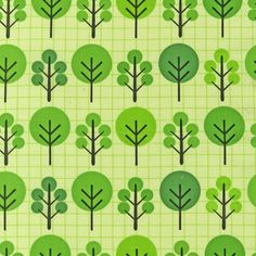 NEW Print & Pattern City Centre Trees Green by luckykaerufabric