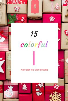 15 Colorful Advent Countdowns – A Subtle Revelry Diy Christmas Decorations Easy, Easy Christmas Crafts, Modern Christmas, Simple Christmas, Holiday Mood, Holiday Ideas, Diy Party, Party Ideas, Christmas Is Coming