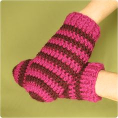 Crochet Mitten Patterns for Beginners   Finished Size: One size fits most. From tip of finger to wrist = 8 1/2 ...