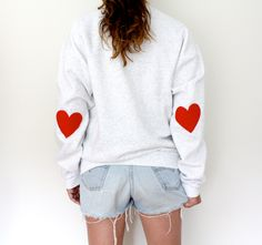Elbow Heart Sweatshirt - original red.  via Etsy.