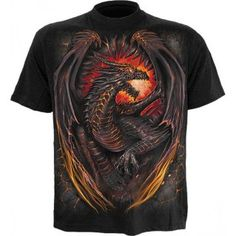 Have you ever wanted to own a dragon? When you wear this Dragon Furnace T-Shirt, you put a raging dragon under your control as it escapes its prison. With its eyes blazing and body aglow, this is one dragon that few will want to cross. Skull Tatto, Neck Tatto, Punk Tattoo, Mode Masculine, Tattoo T Shirts, Sleeve Tattoos, Harry Pottertattoo, Tattoo Dotwork, Sister Tatto