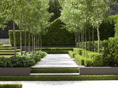 Classic French Garden by Peter Fudge Contemporary Garden Design, Modern Landscape Design, Garden Landscape Design, Modern Landscaping, Backyard Landscaping, Garden Modern, Big Garden, Formal Gardens, Small Gardens