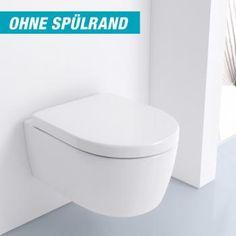 Keramag iCon Tiefspül-WC, L: 53 B: 35,5 cm wandhängend, ohne Spülrand weiß mit KeraTect