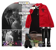"""so kiss me on the mouth and set me free, but please don't bite"" by hastings-23 ❤ liked on Polyvore featuring ASOS, Hunter, H&M, Hostess, wedding, CandiceAccola and JoeKing"