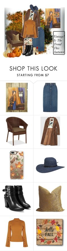 """""""Vintage Style! Autumn Elegant"""" by jjantiq ❤ liked on Polyvore featuring AlexaChung, Pottery Barn, Gucci, Casetify, Volcom, Nasty Gal, Yves Saint Laurent, vintage, vintagestyle and fallfashion"""