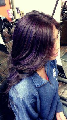 #hairbyhannah purple hair color