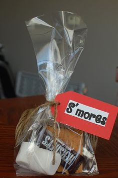 Okay... I know this is like my wedding but it is a cute favour... this one was for a campout themed party.
