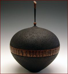 "*Wood Sculpture - ""Midnight"" by Keith Burns"