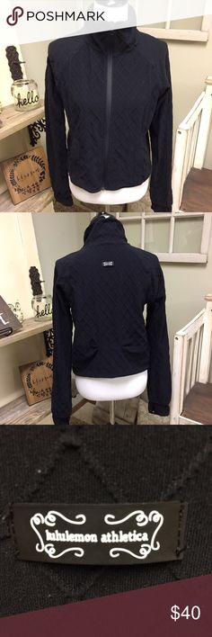"Lululemon Tone Jacket Vintage Lululemon!! Black Tone Jacket. Rare and hard to find. Quilted look with thumbholes. Good used condition. Shows some pilling. No size tag but my best guess is a 10. 19"" across armpits and 18"" across waist. Check out my closet for other namebrand items to bundle with to save 15% and combined shipping. lululemon athletica Jackets & Coats"