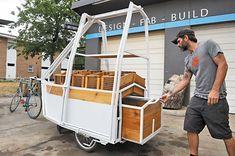 bike powered farm stand trailer