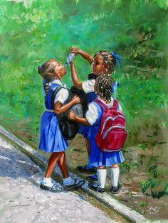 """Water Bottle"" | by Jonathan Gladding (Caribbean Artist)"