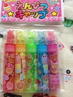 Kawaii Sweets Themed Scented Pencil Caps 5P Set Lemon Co