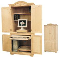 decorative 4 door computer armoire in oak