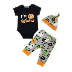 Wapaaw Newborn Infant Kids Toddler Boys Girls Halloween Romper Jumpsuit Pajamas Set Size 024 Months 70cm27506monthsLong sleeve ** Be sure to check out this awesome product. (This is an affiliate link) #ChristmasBabyBoyOutfit Halloween Clothes, Halloween Outfits, Babies Clothes, Christmas Baby, Baby Boy Outfits, Toddler Boys, Pajama Set, Boy Or Girl, Infant