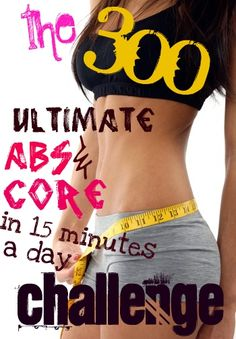 The 300 Challenge [Ab  Core Workout], also wanted to show you a new amazing weight loss product sponsored by Pinterest! It worked for me and I didnt even change my diet! I lost like 16 pounds. Here is where I got it from cutsix.com  .