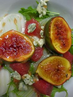Roasted Fig, Grapefruit, and Blue Cheese Salad
