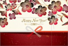 New Year's Card/Celebration/Japanese Paper And by UnFragmentBox