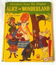 Alice In Wonderland vintage 50s children's Wonder Book
