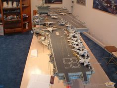 "This is an awesome model....very time consuming. Larry's brother, Alan was on this ship: "" The Enterprise""."