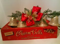 electric christmas bells 5 illuminated christmas charm bells lights by ringalite iob 50s 60s