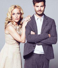 """Team Jamie Dornan Brasil on Instagram: """"Esses dois são maravilhosos! Novo/Antigo outtake  do Jamie e Gillian para a promo de #TheFall 😻 #JamieDornan #gilliananderson #paulspector"""""""