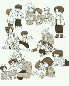 ImageFind images and videos about anime, attack on titan and shingeki no kyojin on We Heart It - the app to get lost in what you love. Ereri, Attack On Titan Meme, Attack On Titan Ships, Eren E Levi, Armin, Mikasa, Chibi, Fanarts Anime, Manga Anime