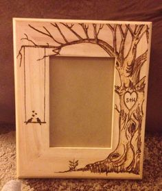 This item is unavailable,Wood burned picture frame do custom orders by What is wood burning ? The tree burned by shading technique by moving a photo on woo. Wood Burning Tips, Wood Burning Crafts, Wood Burning Patterns, Wood Burning Projects, Diy Wood Projects, Wood Crafts, Woodworking Projects, Diy And Crafts, Wood Burner
