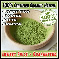 Organic Matcha Green Tea Powder, Vegan and Gluten Free #matcha #vegan