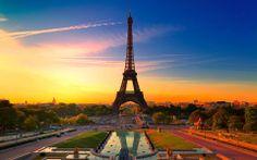 Entardecer perfeito em Paris