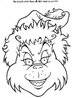 Grinch (11) Printable - Christmas The Grinch Coloring Pages