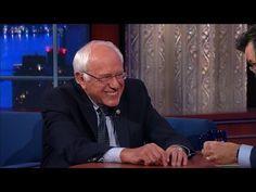 Bernie Sanders Lightens Up With Stephen Colbert